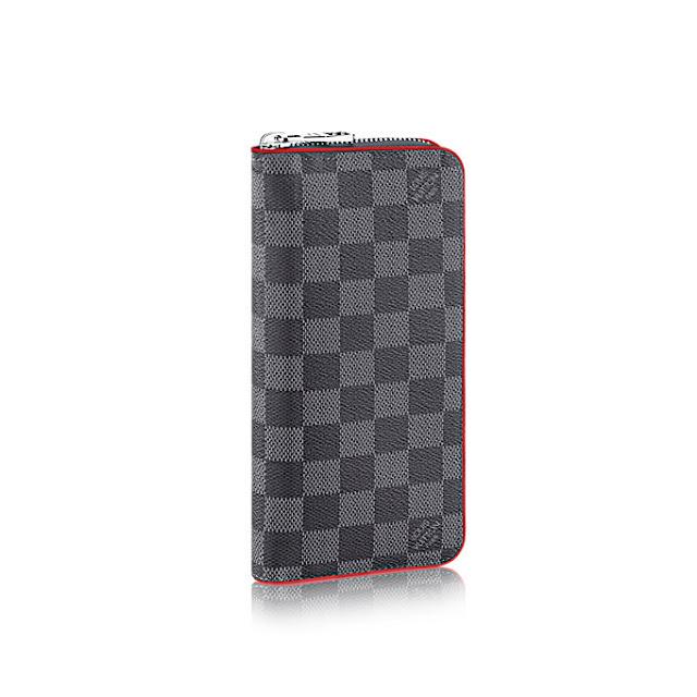 5469297fa92 Louis Vuitton Zippy Wallet Vertical Damier Graphite Canvas ...