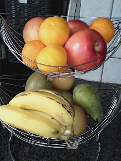 Autumn fruits in Cyprus: apples, pears, bananas, clementines