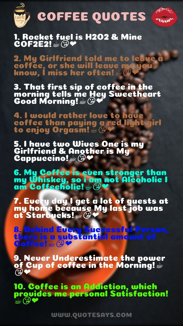 Coffee Captions, Morning Coffee Quotes