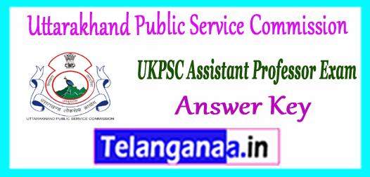 UKPSC Uttarakhand Public Service Commission Assistant Professor Answer Key 2017 Merit List