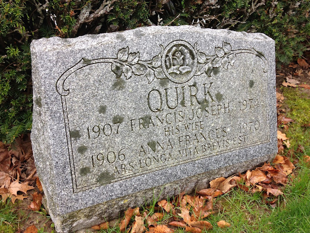 Francis Quirk Painter tombstone, Saco Maine