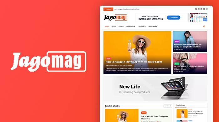 JagoMag Magazine Blogger Template