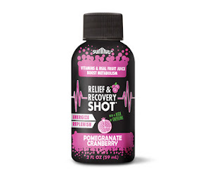 A stock image of Summit Pomegranate Cranberry Relief & Recovery Wellness Shot