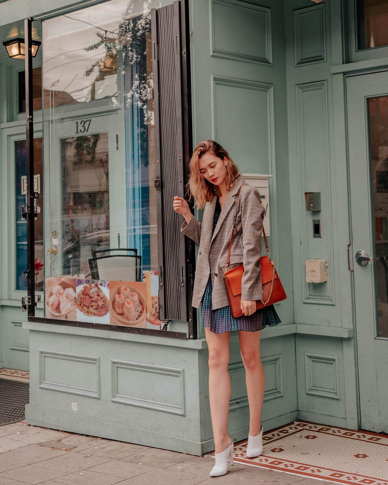 Camel tones, vancouver blogger, fall trends, fall 2018 trends, camel coat, cozy outfit for winter, fall outfit, fall style, canadian style, canadian fashion blogger, plaid blazer, fall dresses, chloe faye, marc fisher shoes,