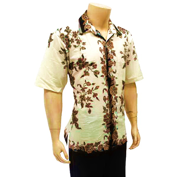 Batik Motif Bunga Pria: Kemeja Pria Batik Solo