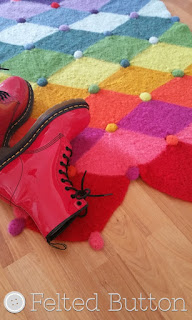Jolly Jester Felted Rug crochet pattern by Susan Carlson of Felted Button