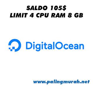 JUAL AKUN DIGITAL OCEAN BALANCE 105$ LIMIT 4 CORE RAM 8 GB