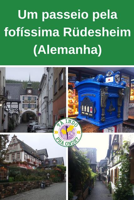 Uma volta por Rüdesheim (Alemanha) em pouco tempo