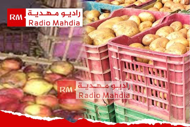 المهدية : حجز 10 أطنان من البطاطا و التفاح بمخزن غير قانوني