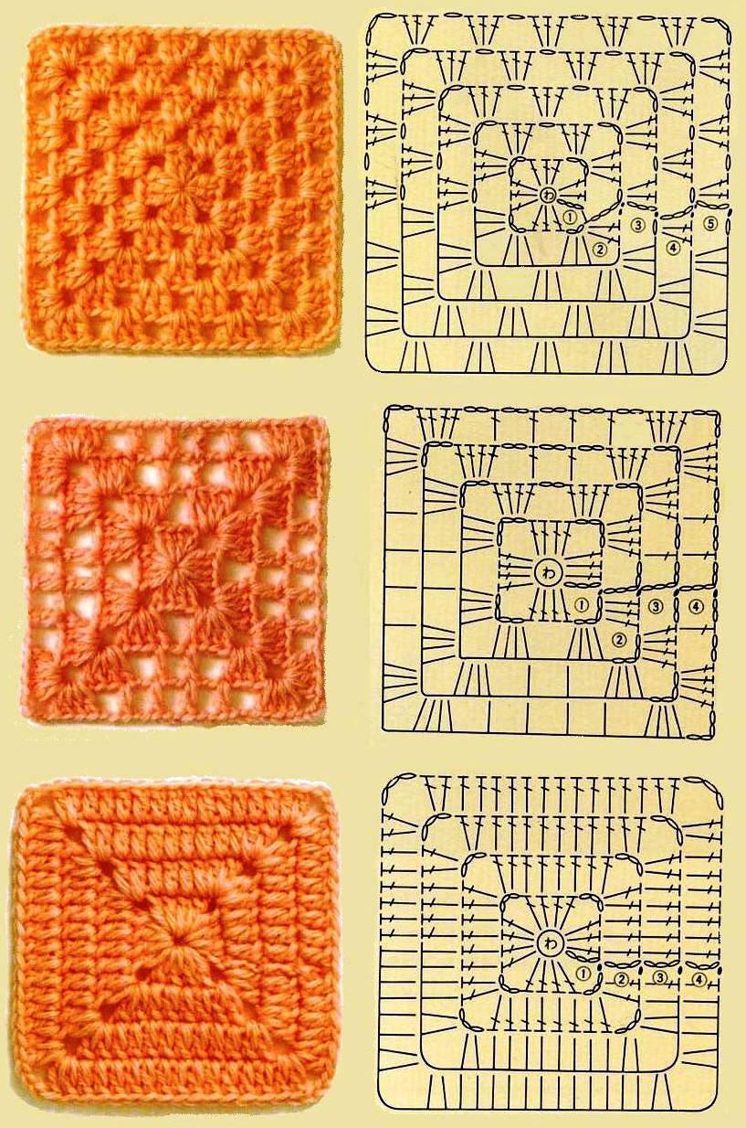Mes Favoris Tricot Crochet 50 Grilles De Carrés Au Crochet