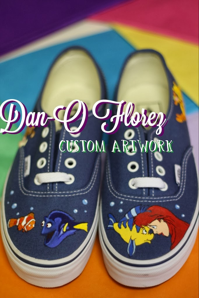 Dan-O Florez  Disney Vans (Custom Painted) 2de23cdc6