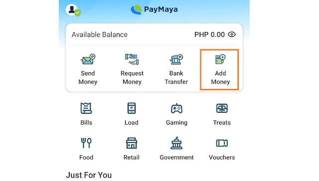 PayMaya Add Money
