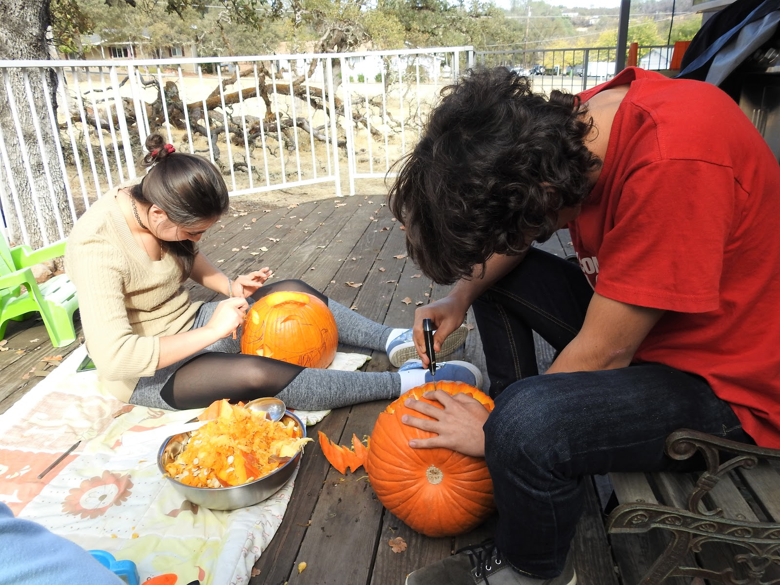 Searching and carving the best pumpkin