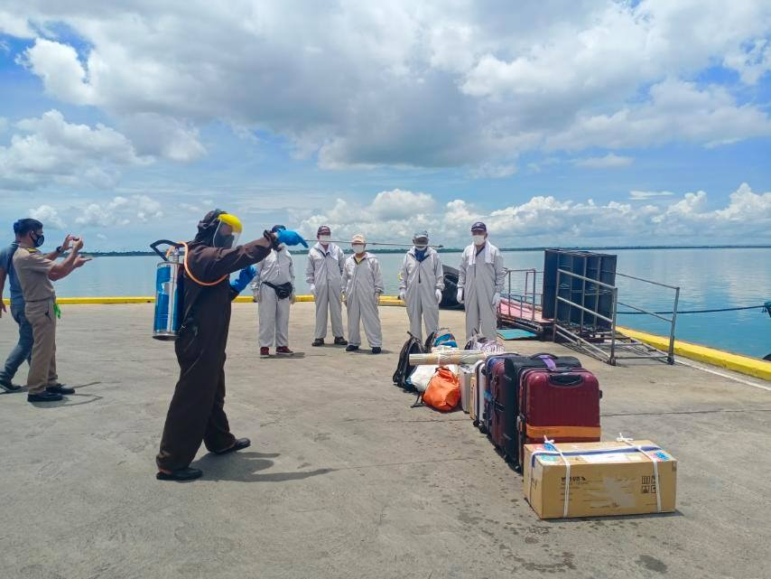 Filipino seafarers Pinoy Seaman joining ship during pandemic