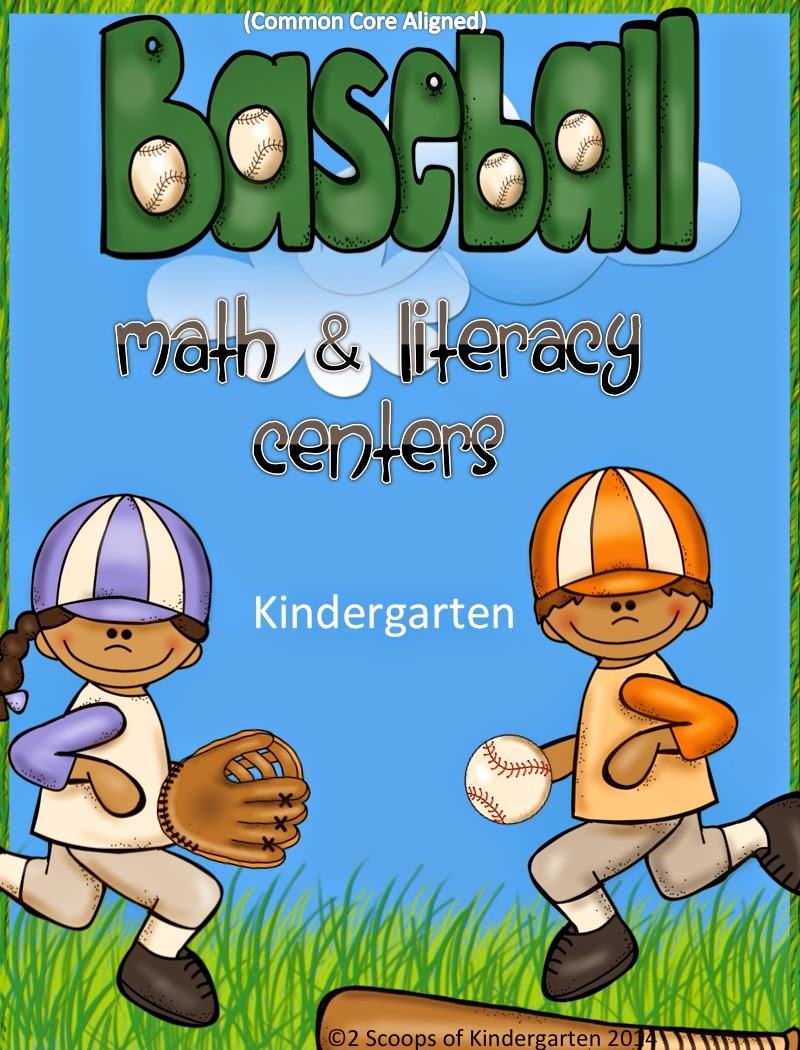 http://www.teacherspayteachers.com/Product/Baseball-Kindergarten-Literacy-Math-Centers-Common-Core-AlignedBundled-1144721