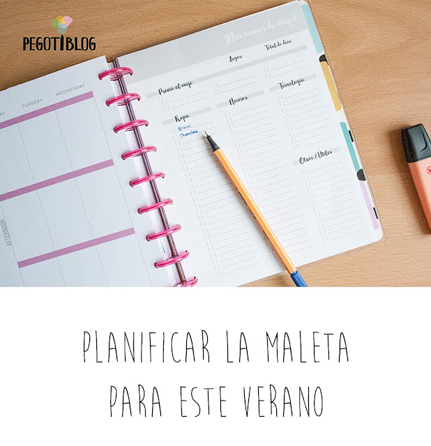 Planifica la maleta este verano - Imprimible para Happy Planner - Planificación, bullet journal, listas