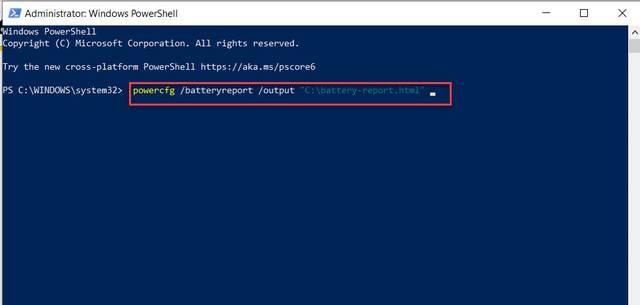 การใช้งาน Battery Report ใน Windows 10