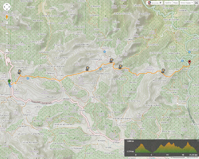 Transcantábrica Tarna - Pontón: Mapa de la ruta