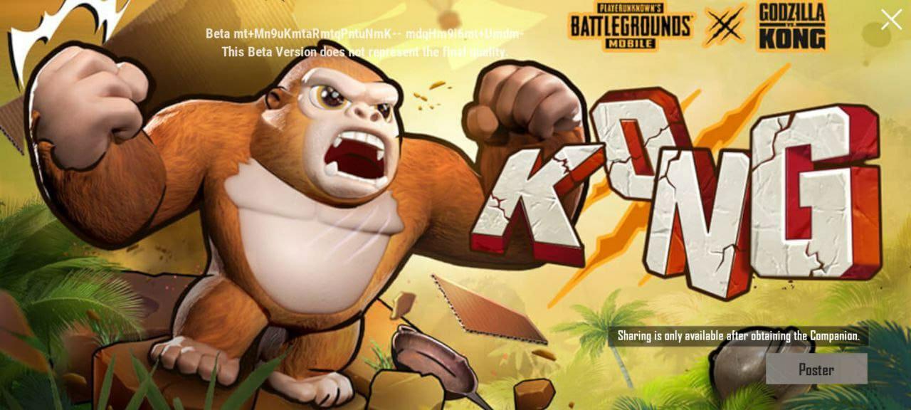 Kong Campanion Free  in Pubg Mobile