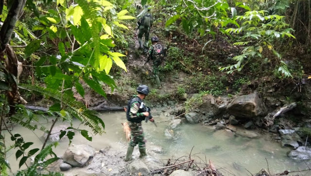 Cegah Pelanggaran, Satgas RI-PNG Yonif Raider 100 Gelar Patroli di Perbatasan