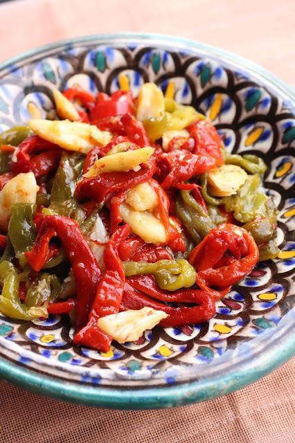 Salade de morue aux poivrons