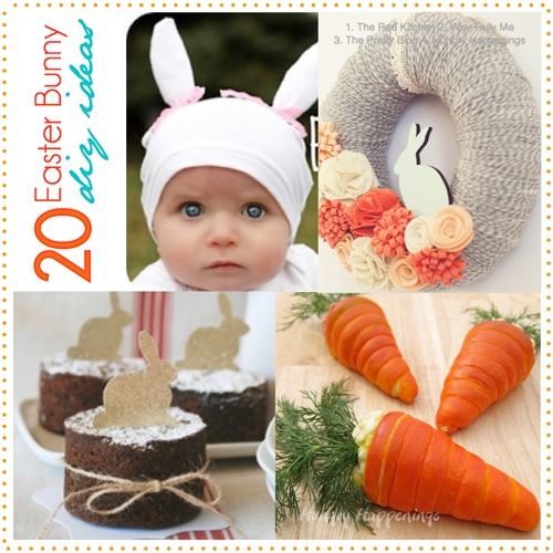 20 Adorable DiY Bunny Ideas featured at I Gotta Create!