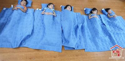 Địa chỉ xưởng may chăn ga gối trường học cho bé đi học tại Hà Nội