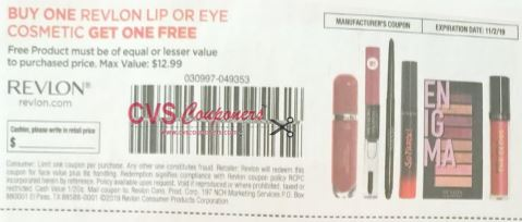 BOGO free revlon lip or eye coupon smart source insert 10 6