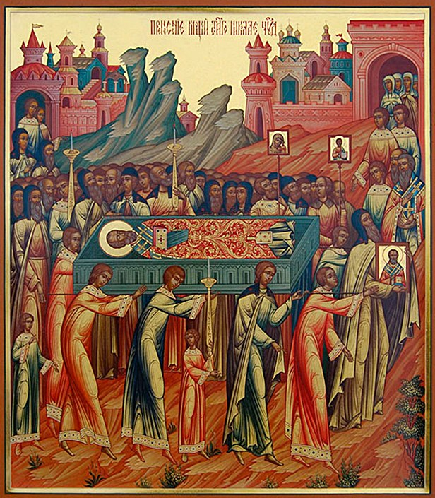 The transfer of the body of saint nicholas from myra in for Portent relic