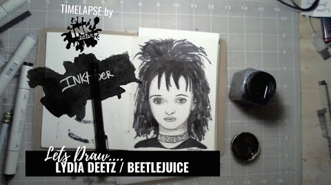 We Drew Lydia Deetz from Beetlejuice - Bad Ass Ladies of Horror - Inktober 2018