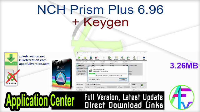 NCH Prism Plus 6.96 + Keygen
