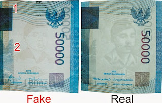 perbedaan uang palsu dengan uang asli,cara membedakan uang palsu dengan lampu,cara membedakan uang asli dan palsu 100 ribu,cara membedakan uang palsu 50 ribu,