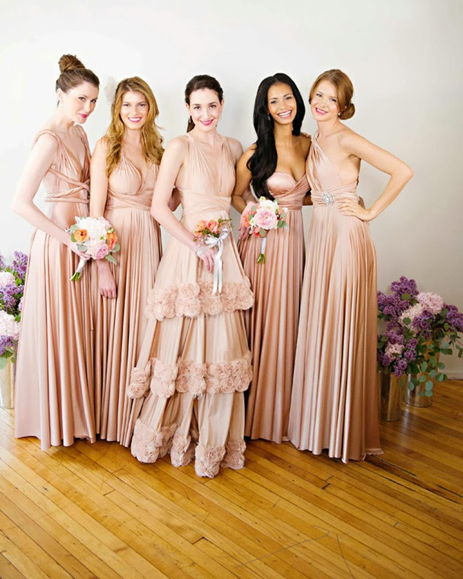 2 IN 1 Wedding Dresses: Convertible Bridal And Bridesmaid