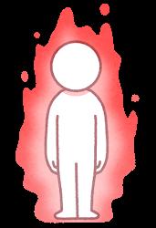 オーラのイラスト(赤)