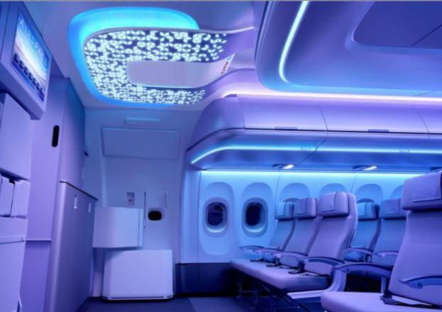 Airbus A350-900 cabin interior