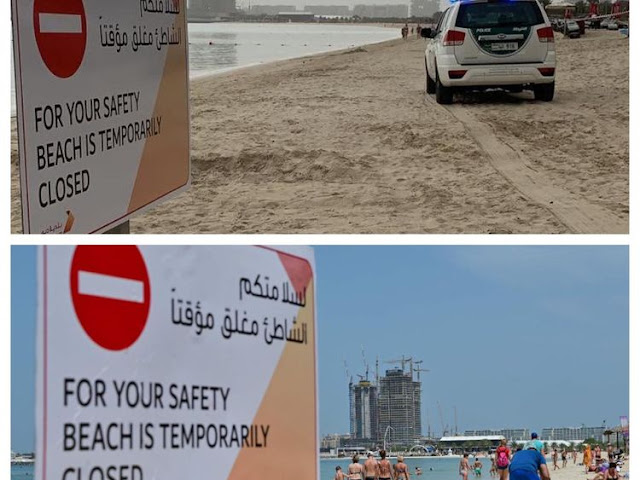 European man arrested in Dubai, after posting a video clip while visiting a beach, despite the ban