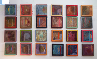 verna vogel 12x12 paintings Fragile Planets
