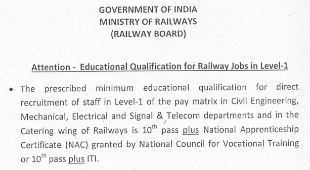 railway group d qualification
