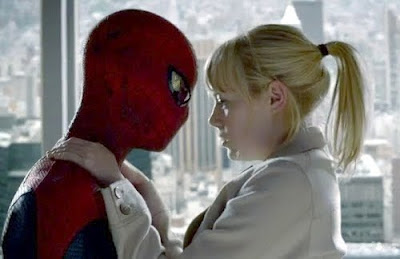 Emma Stone en Andrew Garfield in the Amazing Spider-Man film