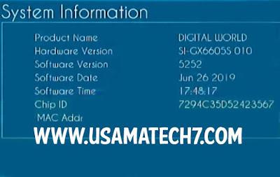 GX6605S NEW SOFTWARE GX6605S HW203.00.010 NEW POWERVU SOFTWARE UPDATE