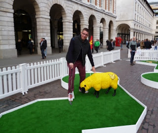 Woolly Golf minigolf course in London's Covent Garden