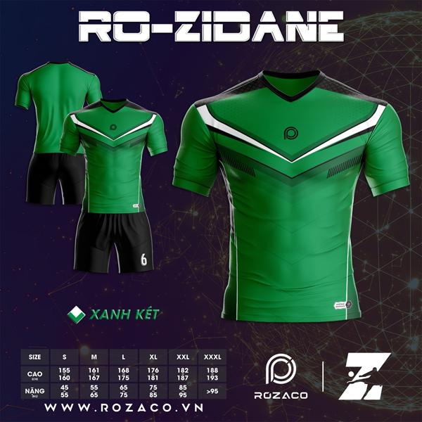 Áo Không Logo Rozaco RO-ZIDANE Màu Xanh Lá