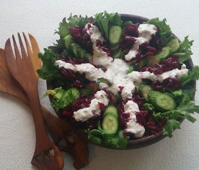 Beet & Cucumber Salad with Horseradish-Caraway Dressing