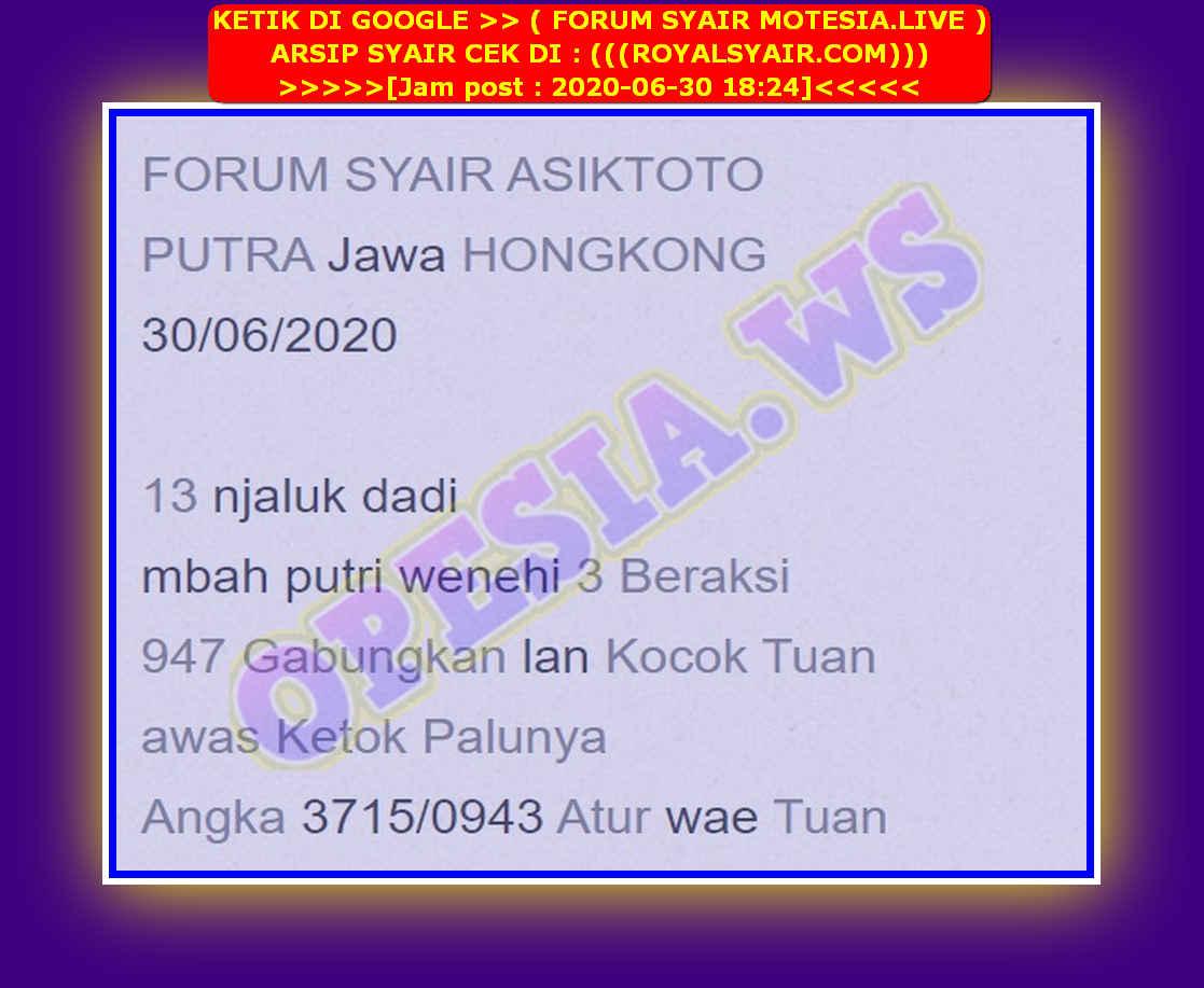 Kode syair Hongkong Selasa 30 Juni 2020 38