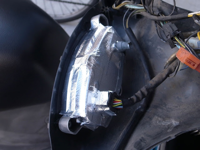 エルリボン LEDヘッドライトバルブ ノイズ対策 アルミガラスクロステープ