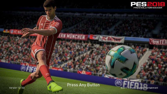 Thomas Müller Start Screen PES 2018