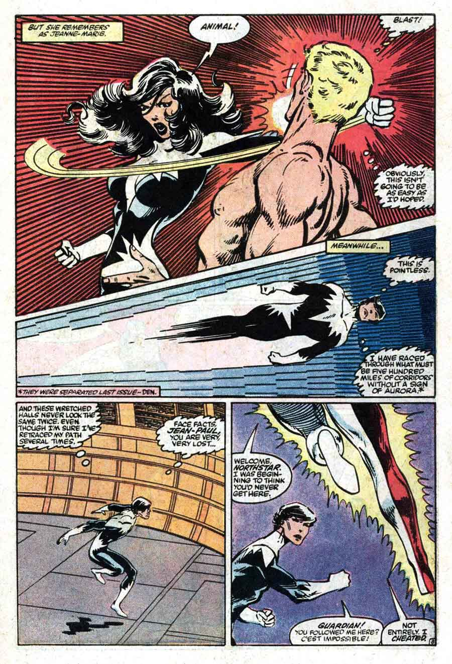 Alpha Flight v1 #4 marvel comic book page art by John Byrne