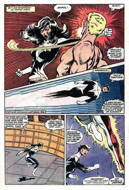 Alpha Flight v1 #4 marvel comic book page art by John Byrne
