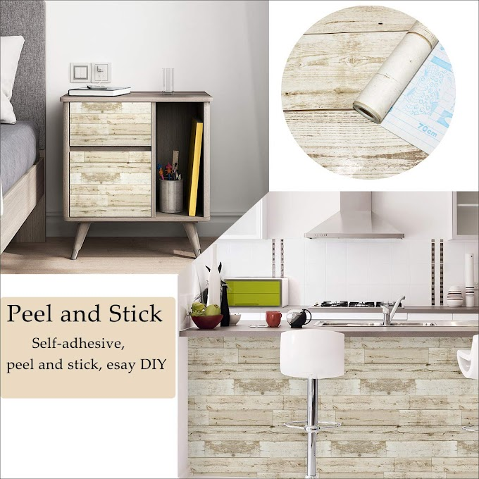 Wood Wallpaper, Self-Adhesive Removable Peel and Stick Wallpaper 45%OFF