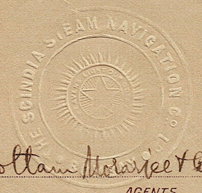 embossed seal with the Star of India